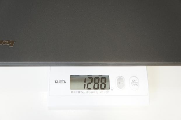 本体の重さ(外付けバッテリーなし)