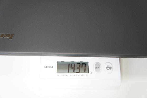 本体の重さ(外付けバッテリー装着)