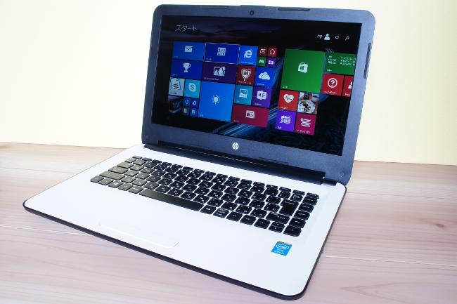 HP 14-ac000 スタンダードモデル スタート画面