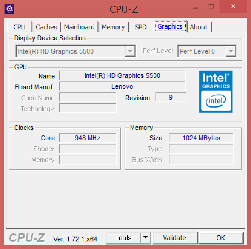 CPU-Z(Graphics 1)