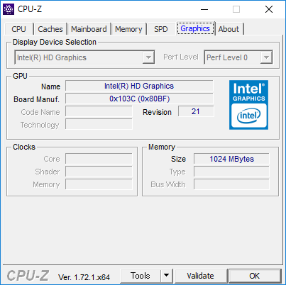 CPU-Z(Graphics 1)