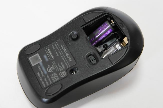 ワイヤレスマウスの乾電池は単4型2本