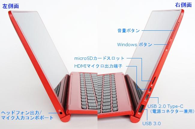 インターフェース(ディスプレイ左右側面)