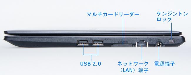 LB-J520S-SSD の右側面インターフェース