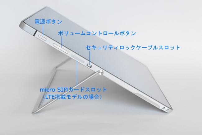 インターフェース(タブレット左側面)