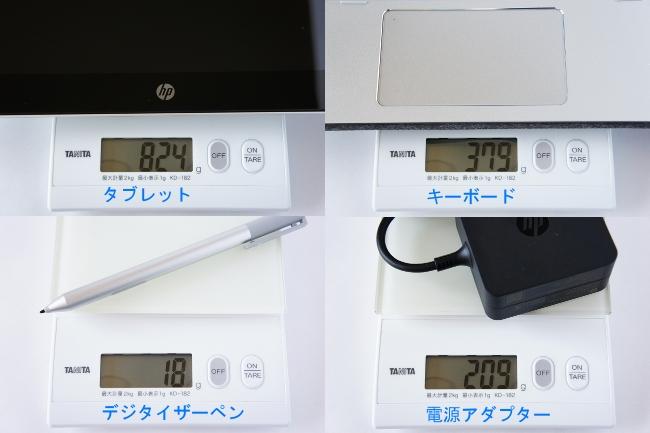 重さを実測