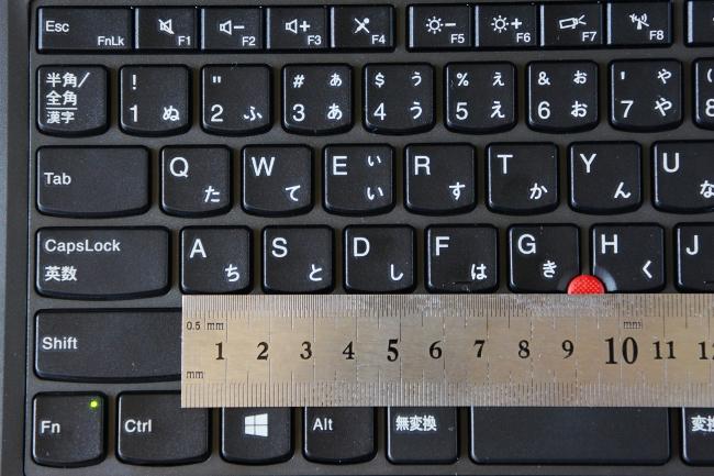 キーピッチは 18.5mm