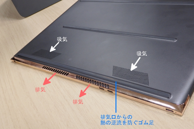 HP Spectre 13-v000 冷却システム