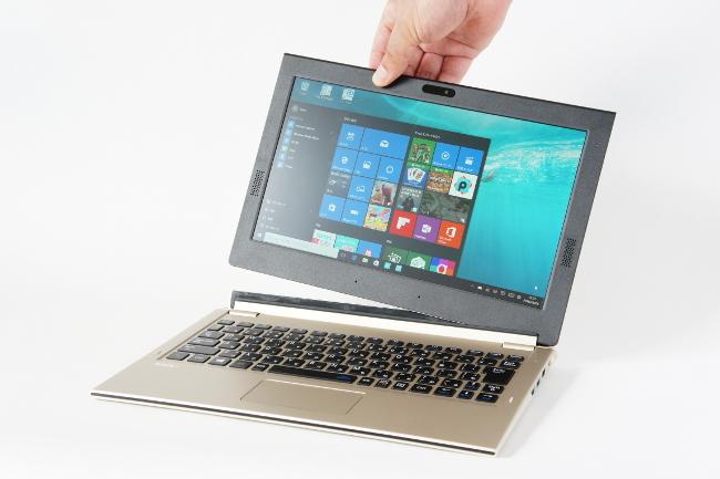 タブレットをキーボードから外す