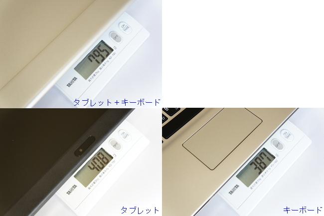 重さを実測(本体)