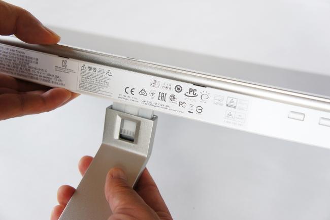 HP 24er モニターにアーム取り付け