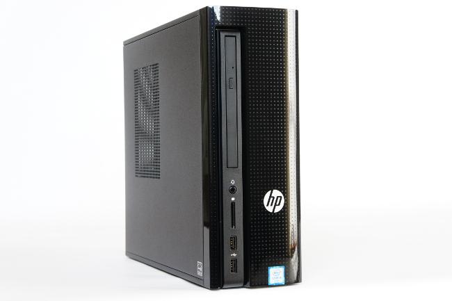 HP Slimline 260-p050jp 正面右側からの写真
