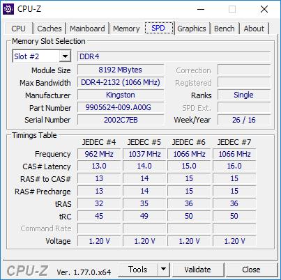 CPU-Z(SPD #2)
