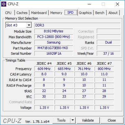 CPU-Z(SPD #3)
