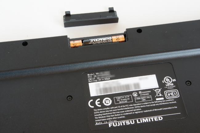 ワイヤレスキーボードの電池