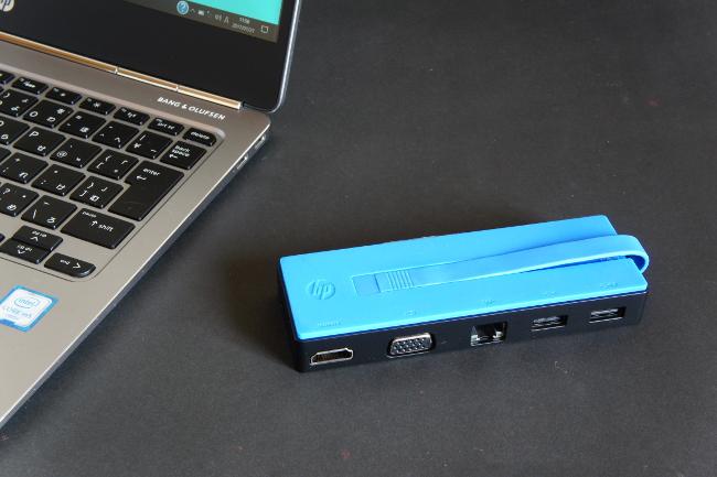 HP USB-C トラベル ドック 大きさイメージ#1