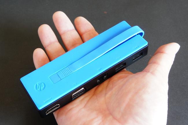 HP USB-C トラベル ドック 大きさイメージ#2