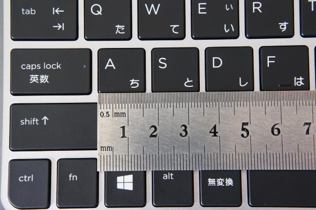 キーピッチはほぼフルサイズ