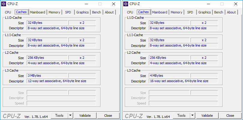 CPU-Z(Caches)