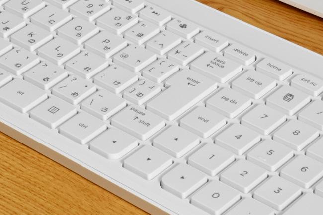 キーボード(従来モデル)カーソルキー周辺のキーサイズや配置