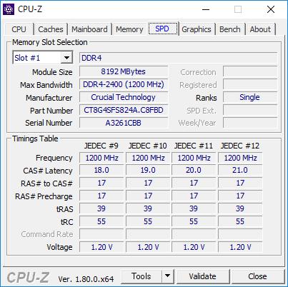 CPU-Z(SPD #1)