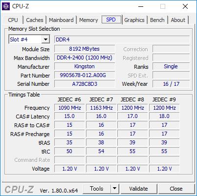 CPU-Z(SPD #4)