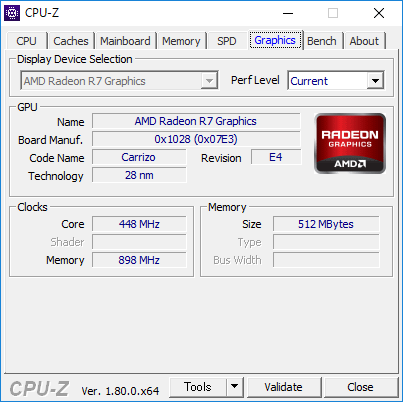 CPU-Z(Graphics CPU内蔵)