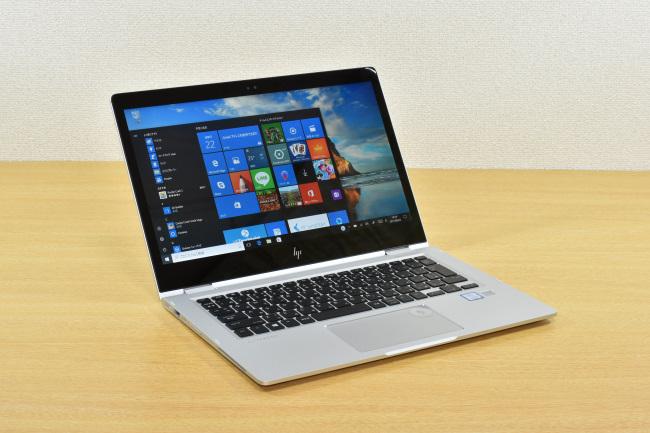 HP EliteBook x360 1030 G2 正面(向かって斜め左)