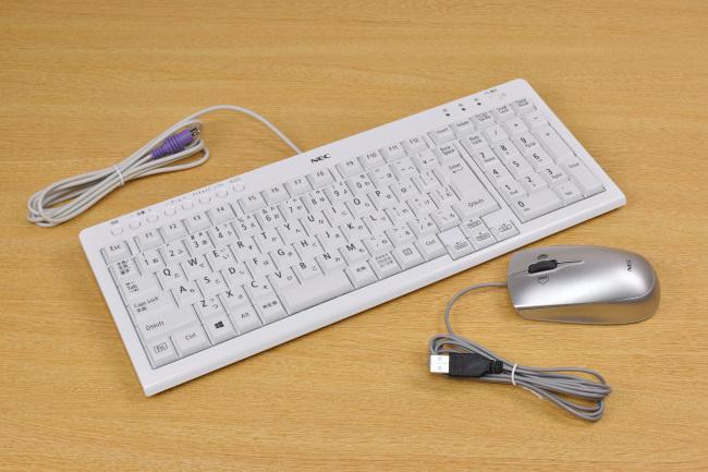 PS/2小型キーボードと USBレーザーマウス