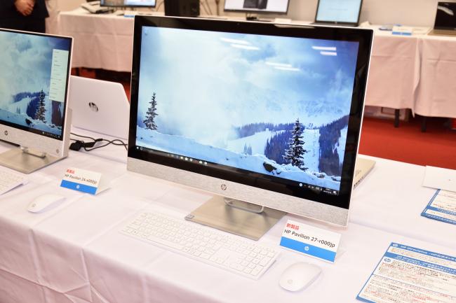 HP Pavilion 27-r000jp と HP Pavilion 24-x000jp