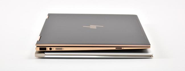 HP Spectre x360 と HP Spectre 13 左側面