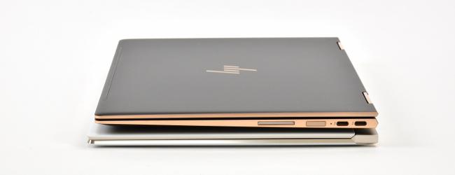 HP Spectre x360 と HP Spectre 13 右側面