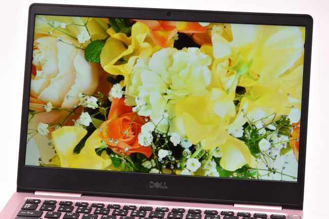 ディスプレイに描画された映像(花束)