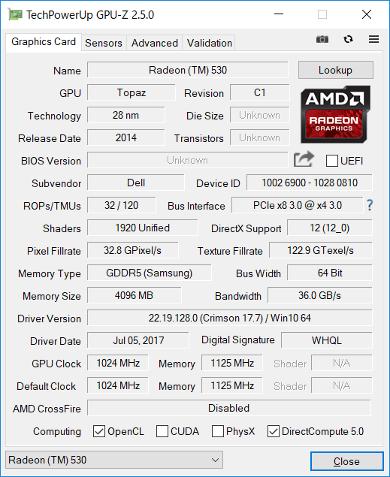 GPU-Z(Graphics 外付けGPU)