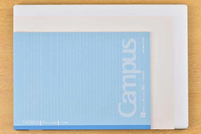 m-Book J シリーズ本体の大きさイメージ