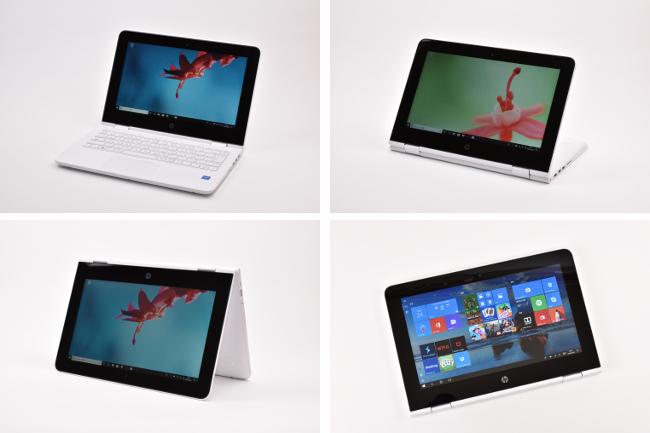 HP x360 11-ab000 4つのスタイル
