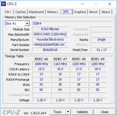 CPU-Z(SPD1)