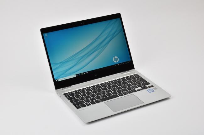 HP EliteBook x360 1020 G2 正面(向かって斜め左)