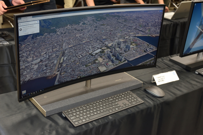 HP ENVY Curved All-in-One 34 正面(その1)