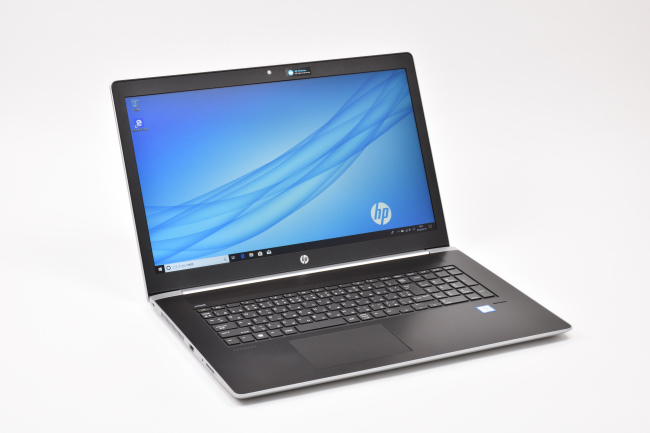 HP ProBook 470 G5 Notebook PC 正面(向かって斜め左)