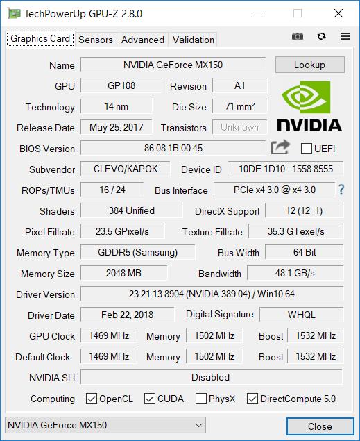 GPU-Z(Graphics 専用グラフィックス)