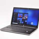 『HP ProBook 470 G5 Notebook PC』レビュー 快適性能を備えたスタイリッシュな 17.3型大画面ビジネスノートPC(前編)