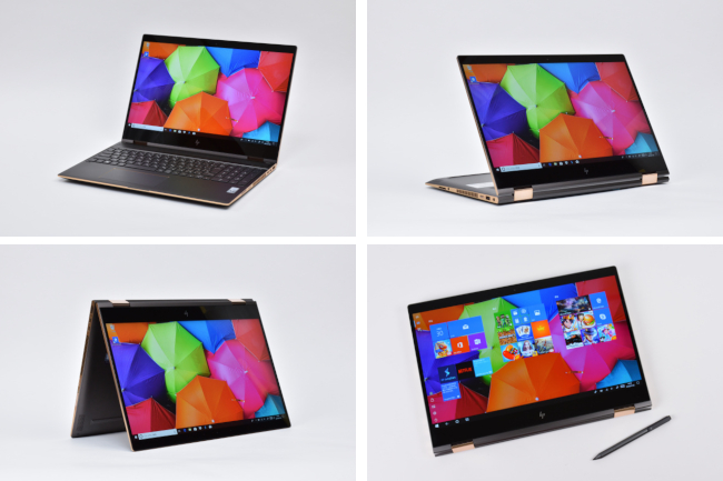 HP Spectre 15 x360 4つのスタイル