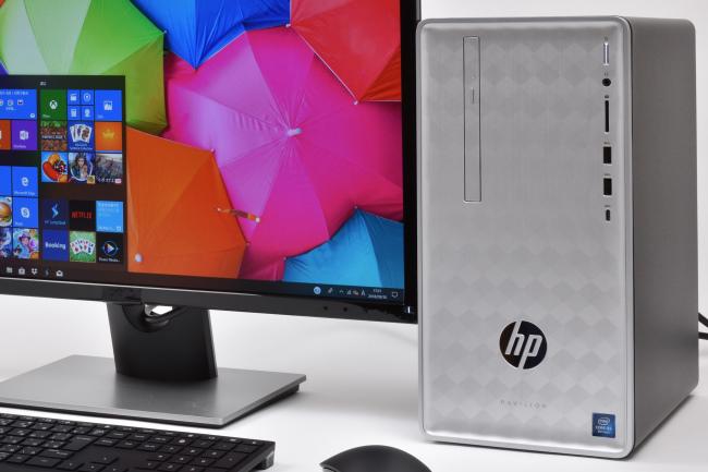 HP Pavilion Desktop 590 正面ズーム