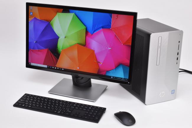 HP Pavilion Desktop 595 正面ズーム