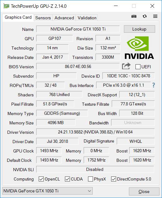 GPU-Z(Graphics dGPU)