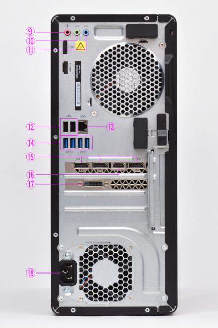 インターフェース(背面側)
