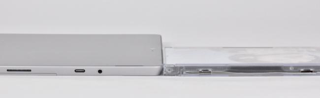 本体の高さ比較(Surface Pro本体のみ)