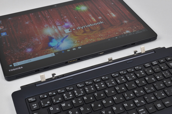 タブレットとキーボードドックの接続部分
