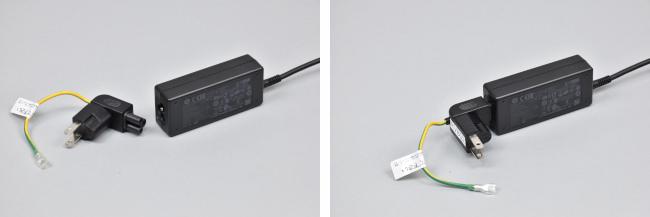 電源アダプターとウォールマウントプラグ